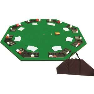 Folding Poker Table Top with Carrying Case Sports