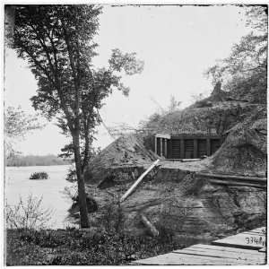 Civil War Reprint Drewrys Bluff, Virginia. Exterior of