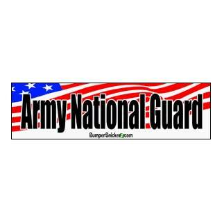 Army National Guard   patriotic bumper stickers (Large