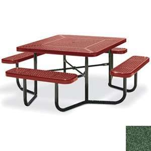 Eagle One Portable Square Perforated Metal Table with 4 Seats