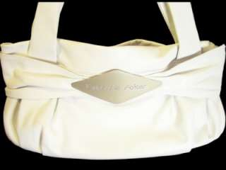 FABRIZIO POKER ITALY Soft White Leather NEW Large Satchel Bag