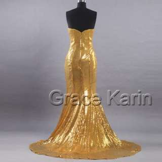Sexy Shinning Sequins Prom Party Gown Evening Dress