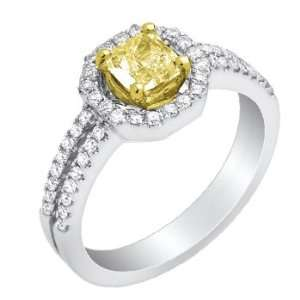 18k TWO TONE GOLD WOMENS RING YR 1094 DIAMOND 0.25CT TW Jewelry