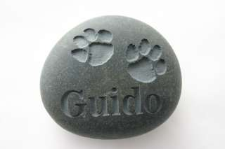 Stone Pet Memorial Custom Engraved Stone Personalized Pet Loss