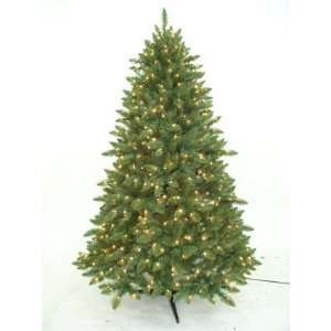 7Ft. Pre Lit Clear Fancy Pine Christmas Tree