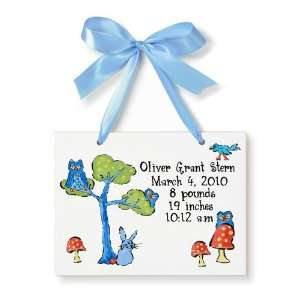 Birth Certificate Hand Painted Tile   Nature Toys & Games