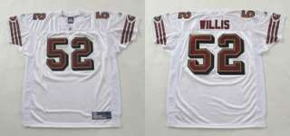 AUTHENTIC SAN FRANCISCO 49ers PATRICK WILLIS WHITE JERSEY 54