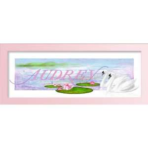name Baby Gift, Personalized name art, Girls wall art. Framed