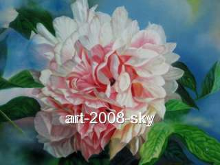 Original Oil painting flower art chinese Peony24x31