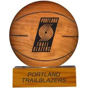 Portland Trail Blazers NBA Laser Engraved Solid Hard Wood