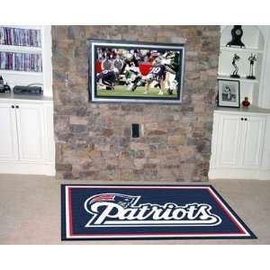 New England Patriots NFL Merchandise   Area Rug 4 X 6