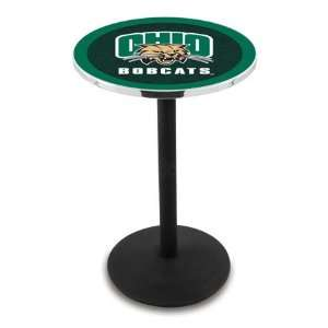 42 Ohio University Bar Height Pub Table   Round Base