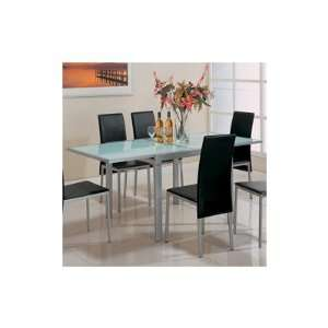 Paoli Metal Dining Table in Pearl Silver Furniture & Decor