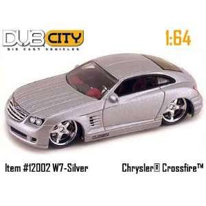 Jada Dub City Silver Chrysler Crossfire 164 Scale Die