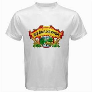 Sierra Nevada Pale Ale Beer Logo New White T Shirt Size  S, M ,L , XL