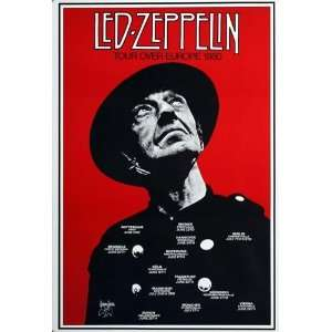 Led Zeppelin   Tour Over Europe 1980   CONCERT   POSTER