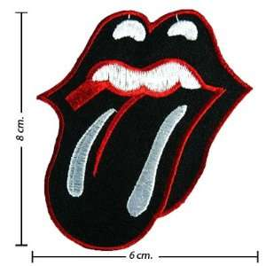 com Rolling Stone Music Band Logo II Embroidered Iron on Patches Free