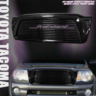 BLACK HORIZONTAL STYLE FRONT HOOD BUMPER GRILL GRILLE ABS 05 06 10