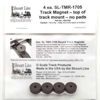 SCALE SOUND SYSTEM TRACK SENSOR MAGNETS 4 Each 1/2 ROUND  LGB 1705