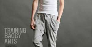 Fashion Style New Mens Casual Rope Sport Harem Trousers Pants 1071