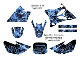Yamaha YZ 85 MX Bike Decal Graphics Kit Zombie 9500B
