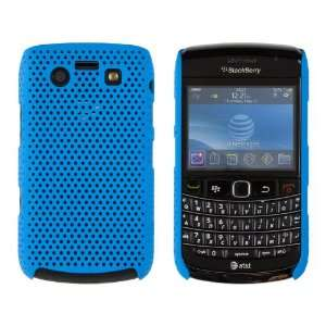 Hard Mesh Snap Case for BlackBerry Bold 9700   Light Blue