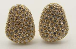 Designer Morelli 18K Yellow Gold Diamond Earrings