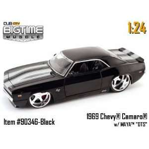 Jada Dub City Big Time Muscle Black 1969 Chevy Camaro with