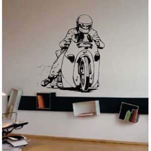 Dragster Bike Decal Sticker Wall Art Graphic Race Room Kid