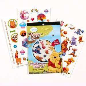 Winnie the Pooh Temporary Tattoo Book Party Supplies Toys & Games