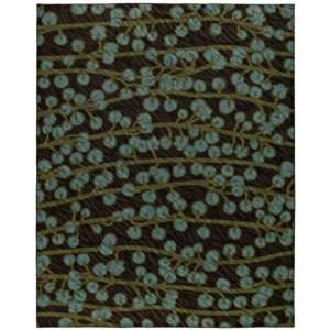 Shaw Angela Adams Chocolate Berries 15700 Rug, 8 by 10