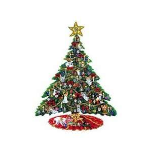 Homespun Collection Christmas Angels Tree Shaped Puzzle