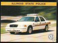ILLINOIS STATE POLICE HIGHWAY PATROL TROOPERS Car Card