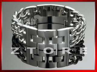 Mens 22mm STAINLESS STEEL Curb Chain Bracelet★STB75#Z6
