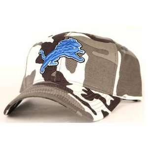 Detroit Lions Gray Camouflage Adjustable NFL Hat Sports