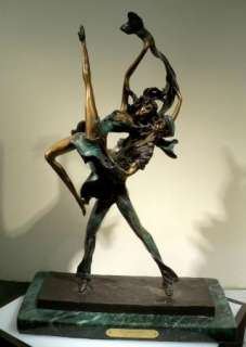 Dancers AFTER Louis Icart Bronze Art Statue Sculpture Mint Submit