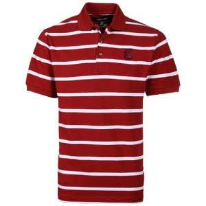 NCAA South Carolina Gamecocks Garnet Kenneth Stripe Polo