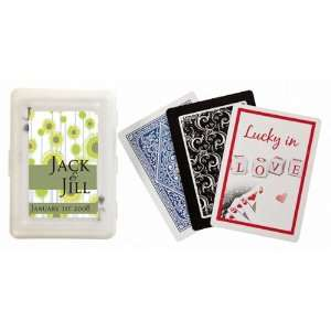 Baby Keepsake Yellow Flower Design Personalized Playing Card Favors
