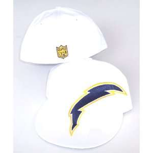 San Diego Chargers NFL Reebok White Fitted Size 7 3/8 Hat Cap