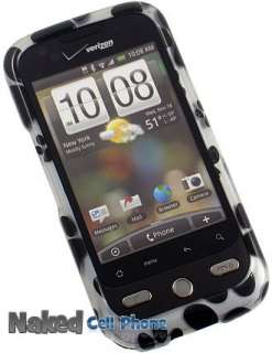 VERIZON HTC DROID ERIS PROTECTOR CASE   BLACK PAW PRINT DESIGN