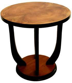 FRENCH ART DECO SIDE TABLE STAND LELEU DOMINIQUE