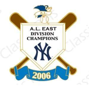 New York Yankees 2006 AL East Division Champs Pin Sports