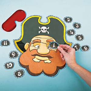 PIN THE EYE PATCH ON THE PIRATE Pirate Party Fun Game NEW