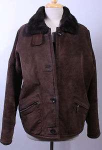 WOMENS JONES NEW YORK SOFT LEATHER/FAUX FUR JACKET sz M