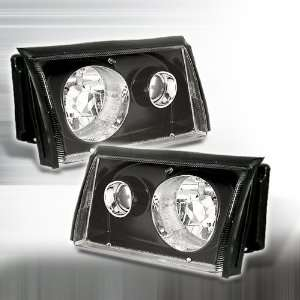 1987 1993 Ford Mustang Cobra Projector Headlights Black