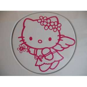 Hello Kitty Racing Car Decal Sticker (New) Pink Angel
