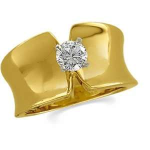 14K Yellow Gold Diamond Solitaire Engagement Ring   0.50