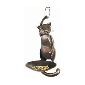 Blue Handworks Cat Acrobat Bird Feeder Patio, Lawn