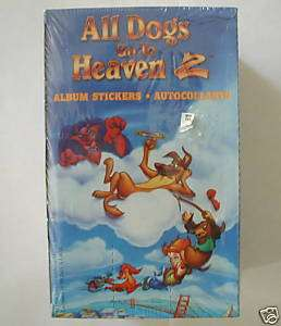 All Dogs Go To Heaven 2 Album Stickers Sealed BOX