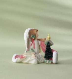Foundations Angel with Christmas Tree Figurine #4008226